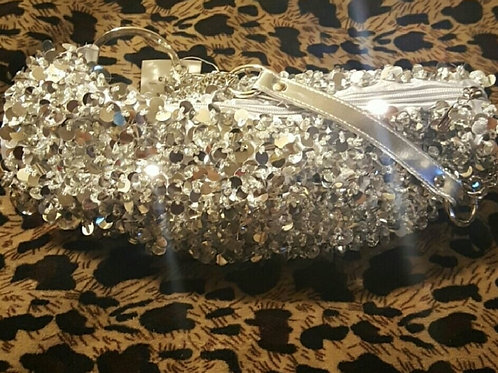 Sparkling Silver Purse