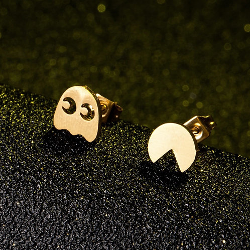 Retro Pac Man Earrings