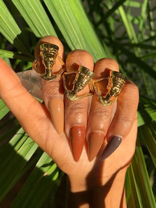 Golden Goddess Nefertiti Rings
