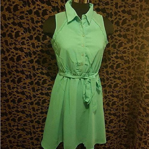 Minty Teal Color Dress