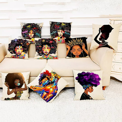 African Pillow Covers
