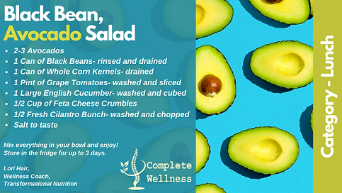 Complete Wellness - Avocado Salad - Reci