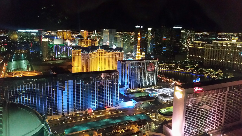View from the High Roller in Las Vegas
