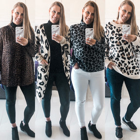 4 LEOPARD INSPIRED FALL OUTFITS