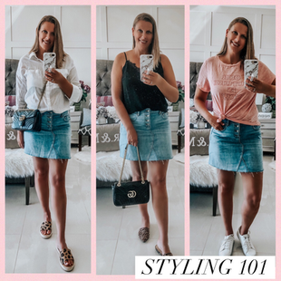 STYLING 101: DENIM SKIRT STYLED 3 WAYS