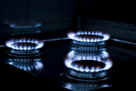 Newmatic gas flame from built in hob