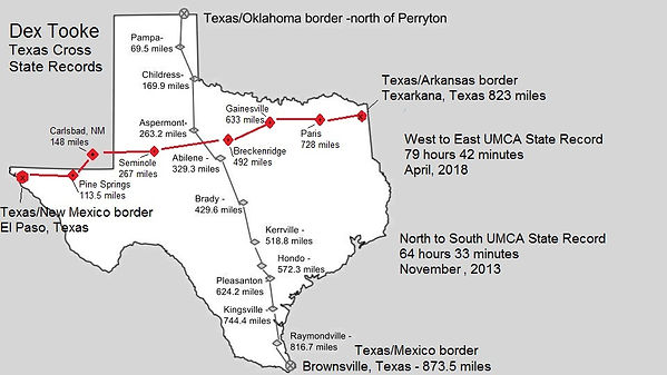 map of Texas Cross State Record both dir
