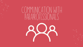 Communication with Educational Paraprofessionals