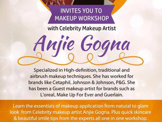 I'm bringing my #AnjieGogna Makeup Workshop to Chandigarh