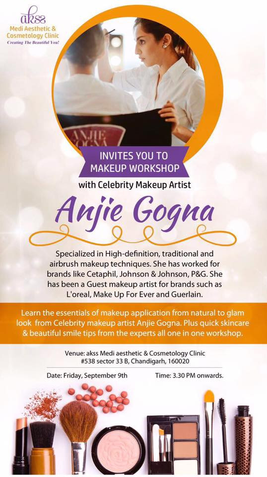 Learn the essentials of makeup application natural to glam look from Celebrity Makeup Artist Anjie Gogna. Plus quick skincare & beautiful smile tips from the experts, all in one workshop. In partnership with Akss Medi Aesthetic & Dermatology Clinic