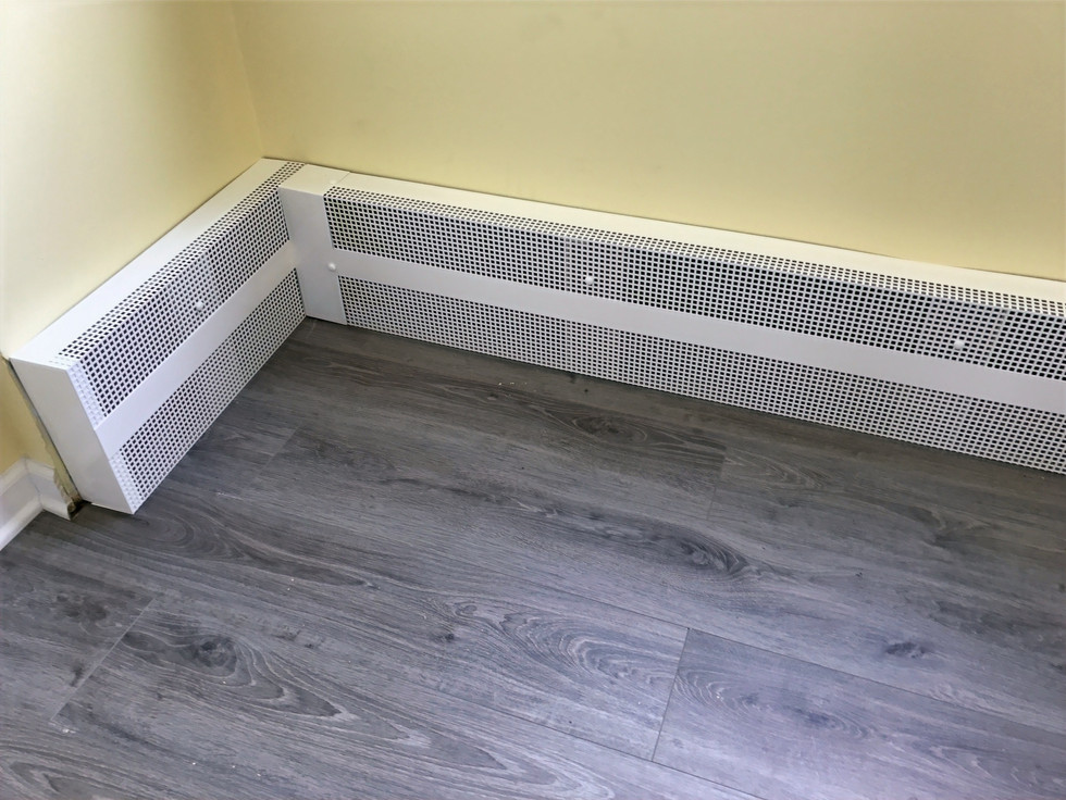 Installed Baseboard Heater Cover - Enhan