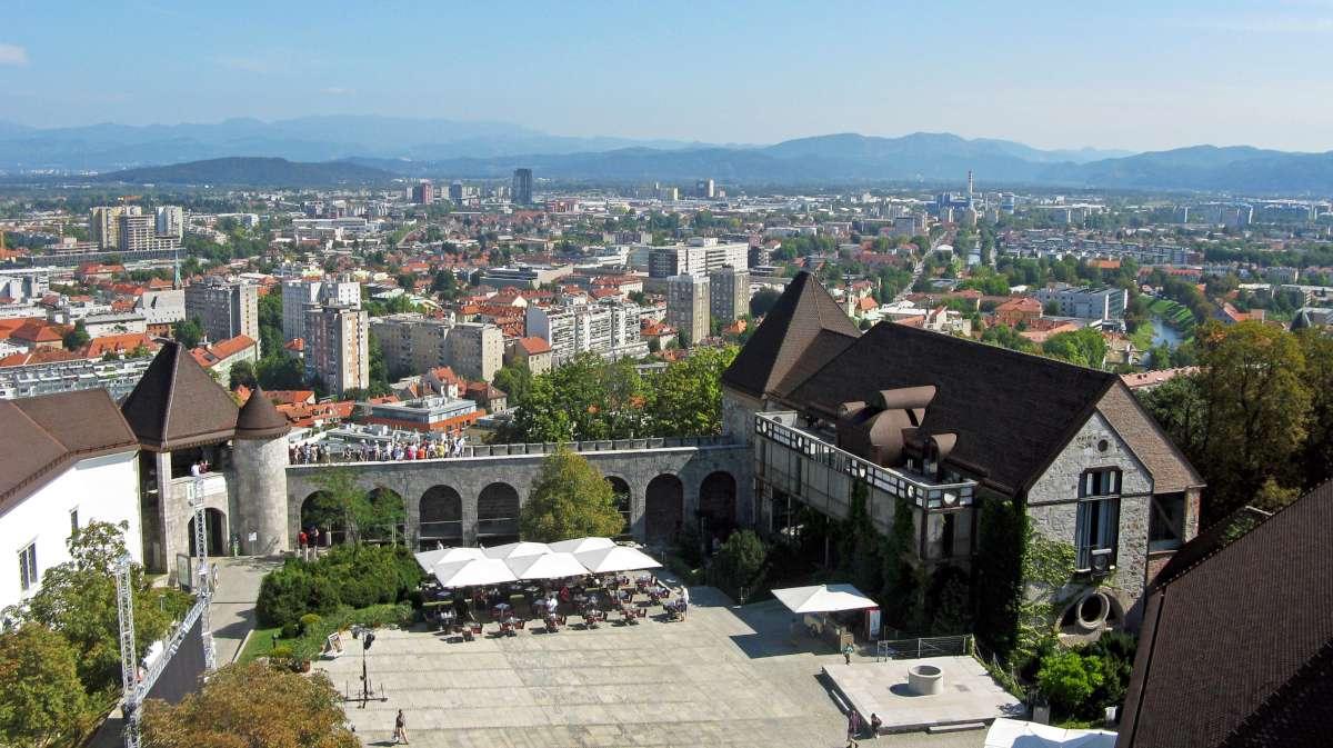 Ljubljana 5, Ljubljana castle, panorama,