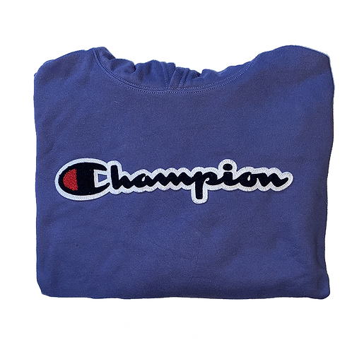 Champion Hoodie blue embroidered logo
