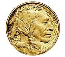 2021, Gold American Buffalo Coin, 1-troy oz., .9999 (BU)