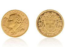Swiss 20 Franc, Gold Helvetia