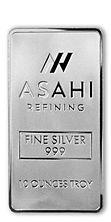 Asahi 10 troy oz. Silver Bar, .999