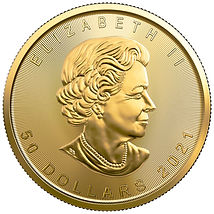 2021 Gold Maple Leaf Coin, .9999