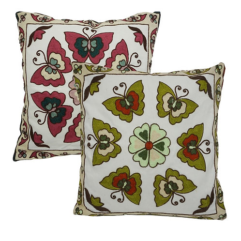Pure Cotton Cushion Covers-Butterfly