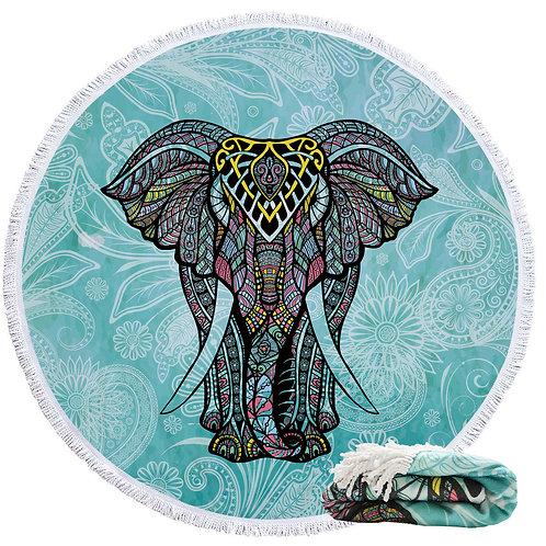 Microfiber Beach Blanket-Elephant