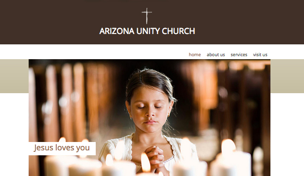 Religions et Humanitaire website templates – Église