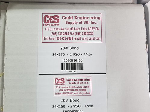 36x150 20# Bond-4ctn