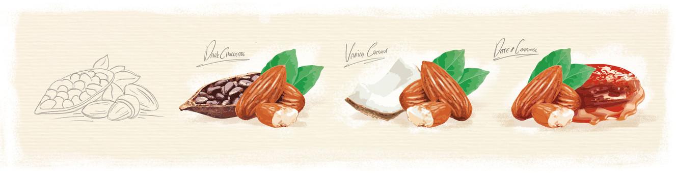 So Good Almond Illustrations