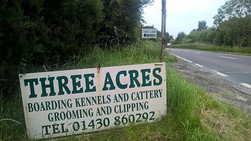 Three Acres sign