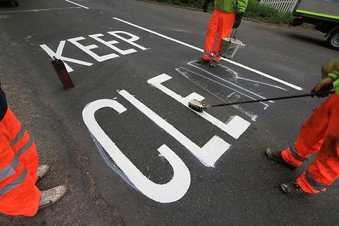 Keep Clear Road Marking