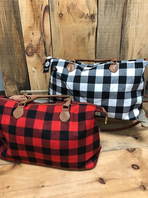 Weekender Bag - Red Buffalo Plaid