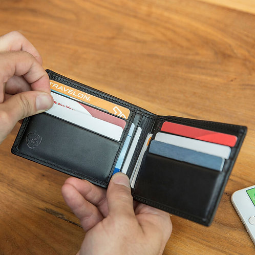 RFID Blocking Leather Billfold Wallet
