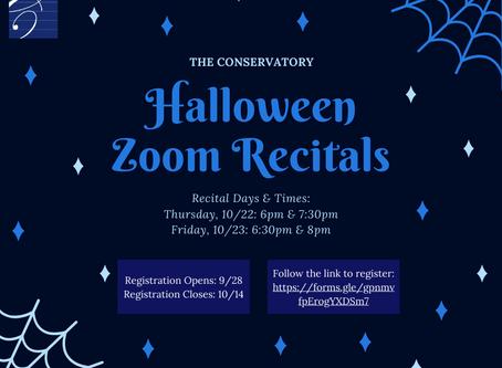 Halloween Zoom Recitals 2020
