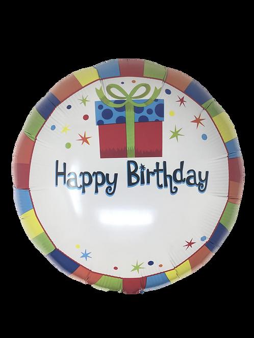 Happy Birthday Present Ballon