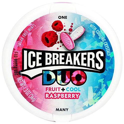 Ice Breakers DUO Fuit + Cool Raspberry Flavor (36 g)