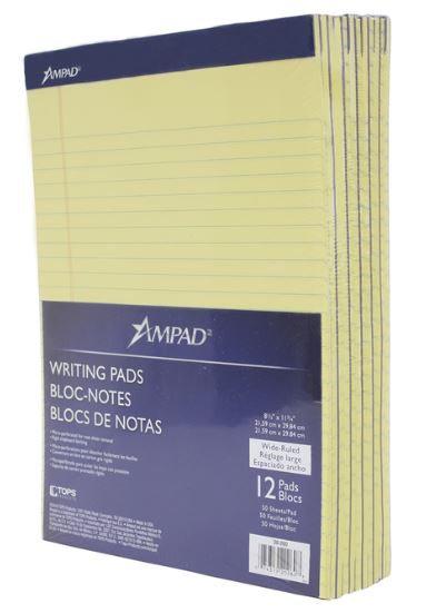 Block Yellow Pads - 100 sheets