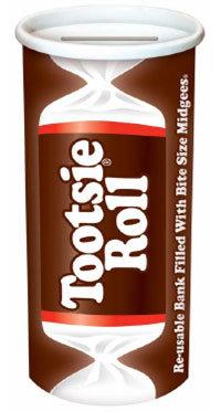 Tootsie Roll Reusable Bank