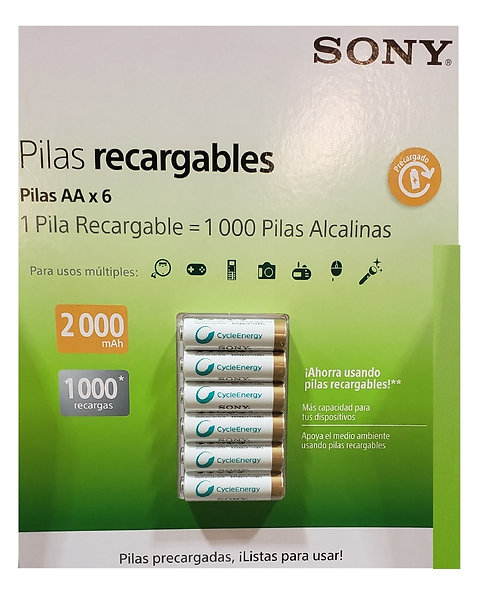 SONY Rechargeable Batteries (AAx6)