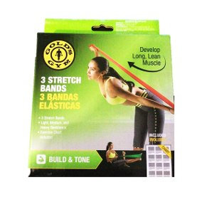 Gold´s Gym  Develop Long Lean Muscle 3 Stretch Bands