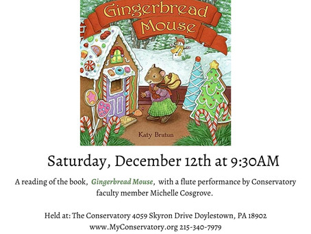 "December Story Book Concert: ""Gingerbread Mouse"""