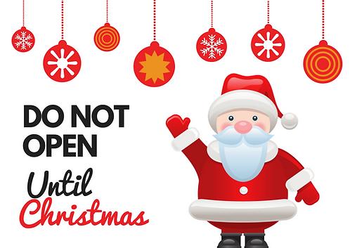 Do Not Open Sticker