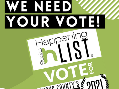 We're Nominated for Bucks Happening 2021!