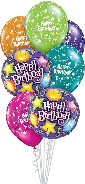 Balloons Bouquet (7 balloons & ribbon)