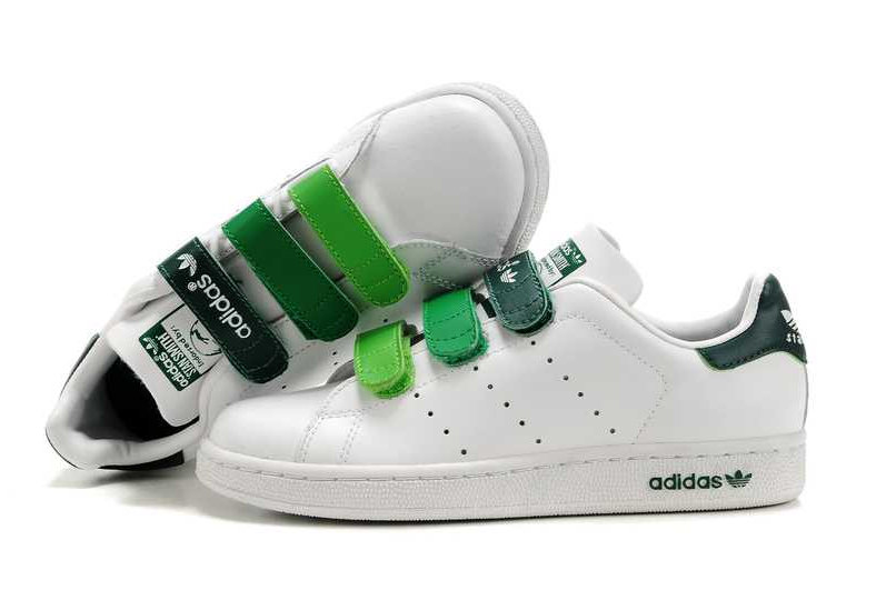 best website 63123 21a1a Adidas Stan Smith (Green Velcro) | sneakero