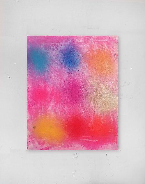 Candy Cane Sweet - Spray paint, oil, acrylic - 35 x 45 cm - 2020