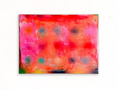Tangerine Orange,  120 x 90 cm, oil, acrylic, spray paint, 2020