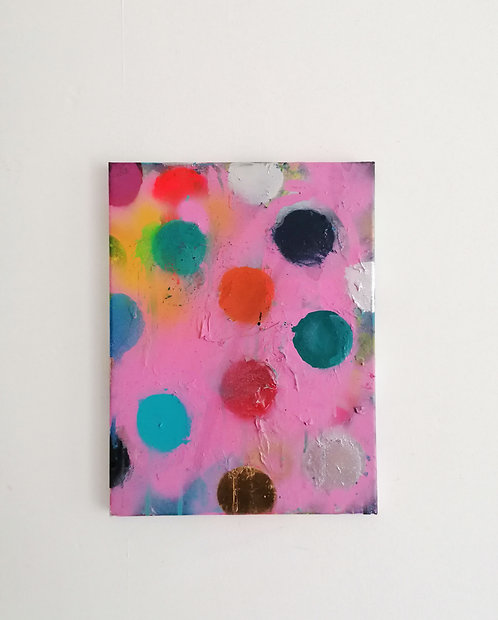 Dots on Pink 12 x 16 in