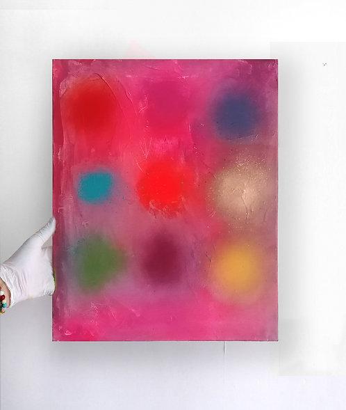 Sweet as Cherries - Spray paint, oil, acrylic - 40 x 50cm - 2020