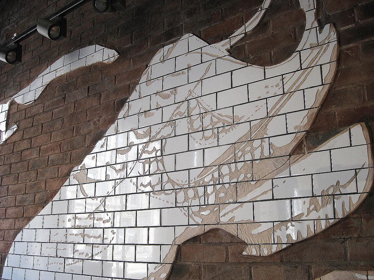 Another close up of a brick shoe