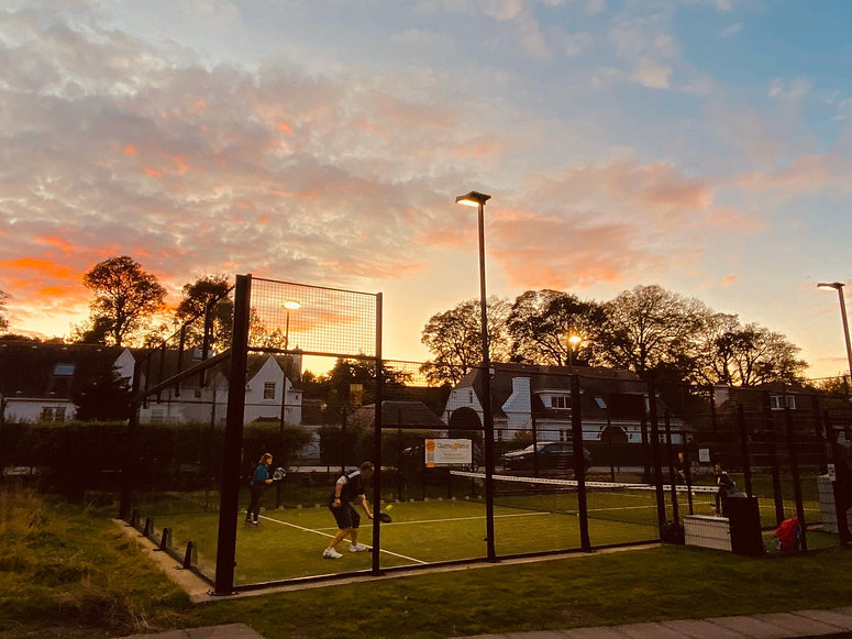 Barnton Park Padel Sunset.JPG