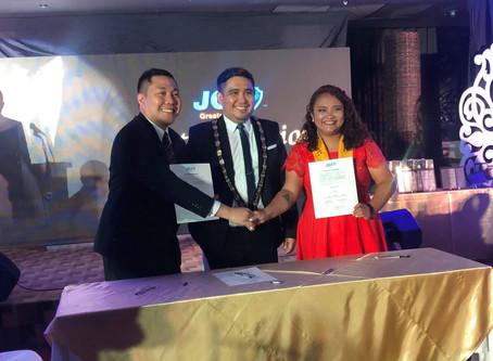 Twinning Agreement with JCI Greater Davao Inc. Renewed