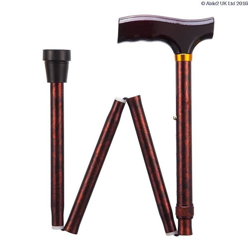 "Folding Adjustable Walking Sticks - Birds Eye 33-37"" VAT EXEMPT"
